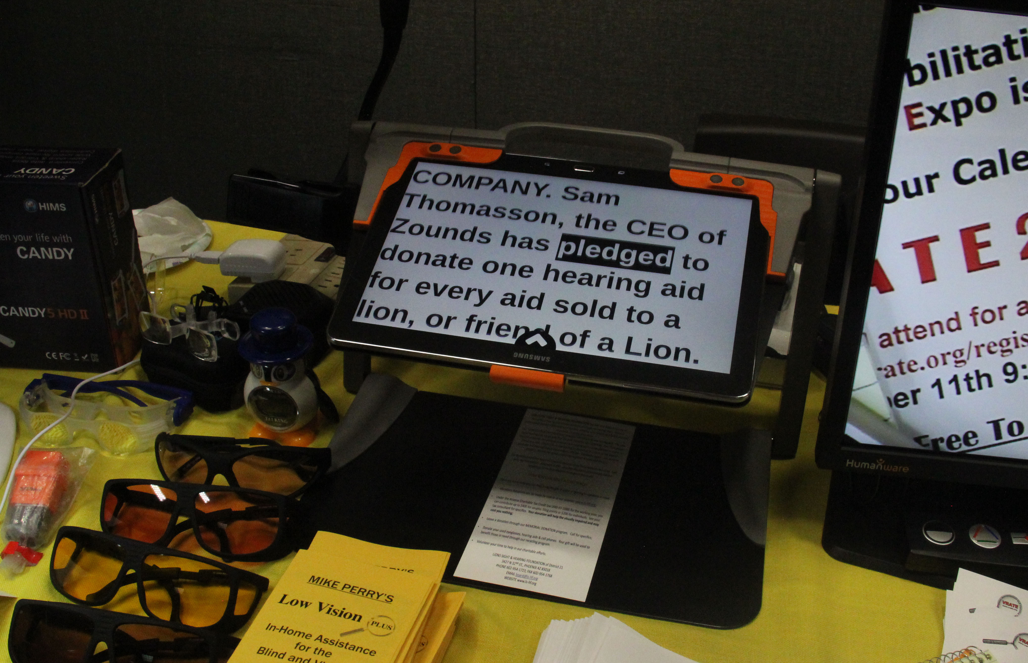could news touchable tablets blinds tablet guide for epfl blind the