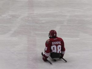 Stephen Binning waiting to be passed the puck during a play.