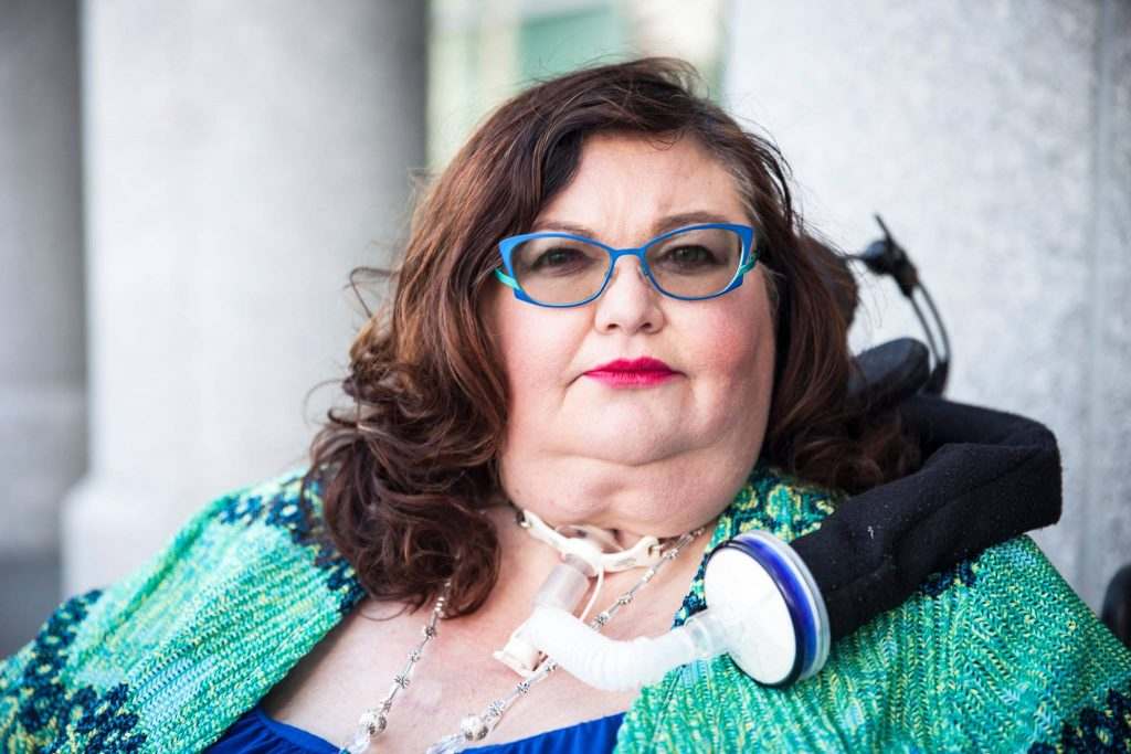Photo of the late disability rights advocate Carrie Ann Lucas.