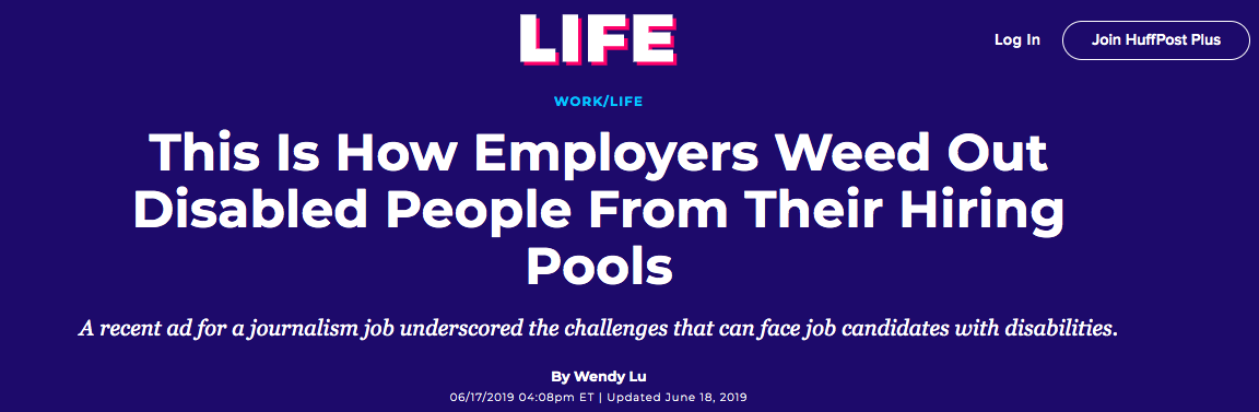 How employers weed disabled people from their hiring pools
