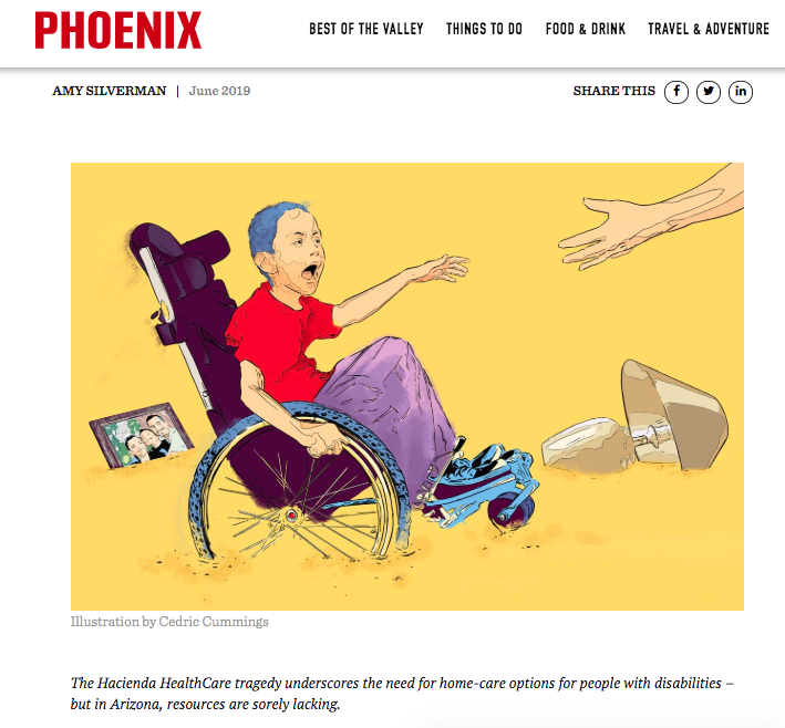 Screen Shot of Phoenix Mag article by Amy Silverman