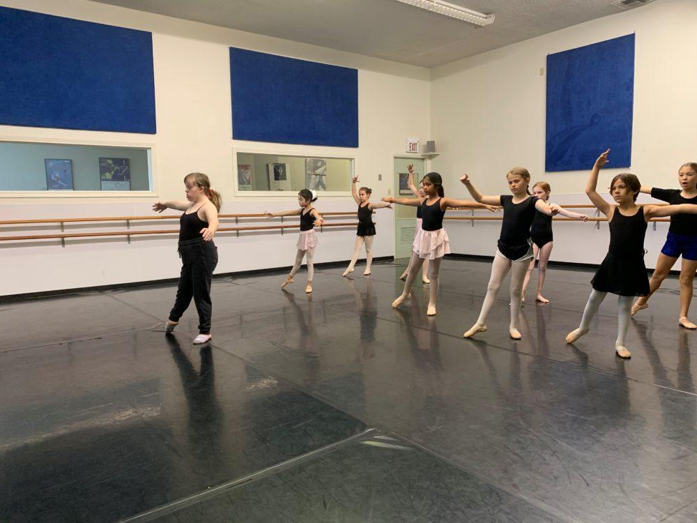 Sophie Silverman dancing ballet.