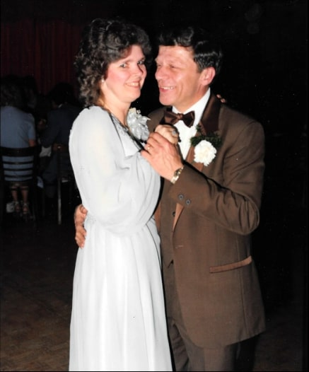 Mr. and Mrs. Shaver dancing