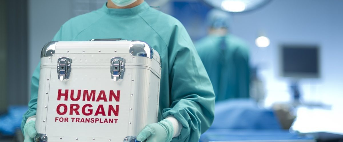 A medical professional carries a human organ for transplant. Courtesy FloridaPolitics.com